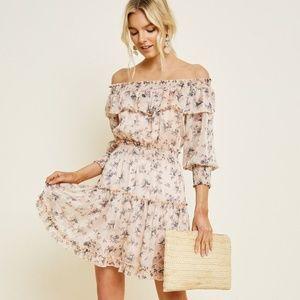 Floral Off-Shoulder Mini Dress
